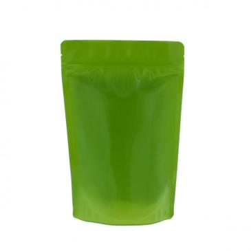 Bolsas de fondo plano 100% reciclables – Libre de aluminio (código de reciclaje 4) Verde