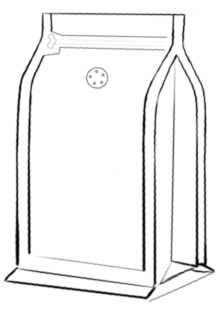 Flat Bottom koffiezak met front zipper
